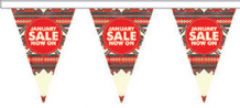 January Sale Style 2 Superior Bunting 10m (32') Long With 24 Flags